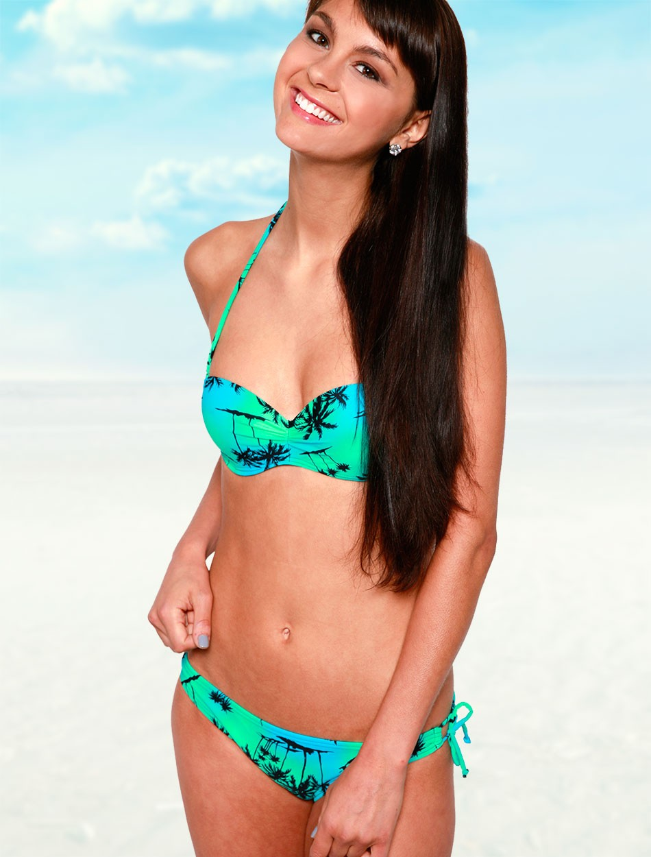 The Under Wire Bandeau Top - Blue Palms