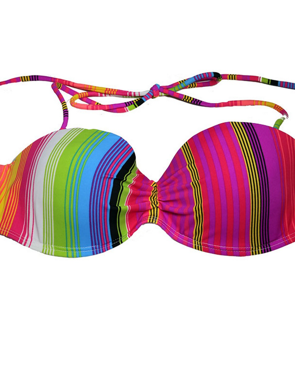 The Under Wire Bandeau Top - Bright Stripes