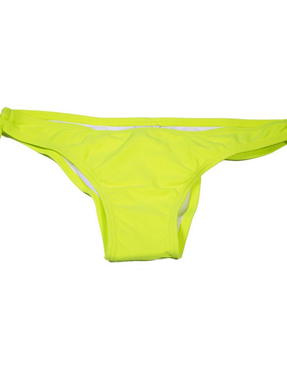 The Cheeky Key Hole Bottom - Neon Yellow