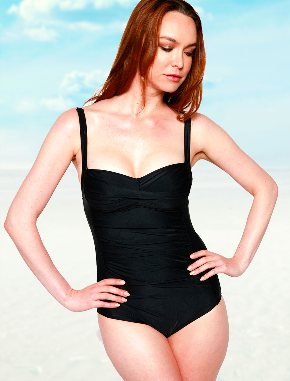 The Shirred One Piece - Black