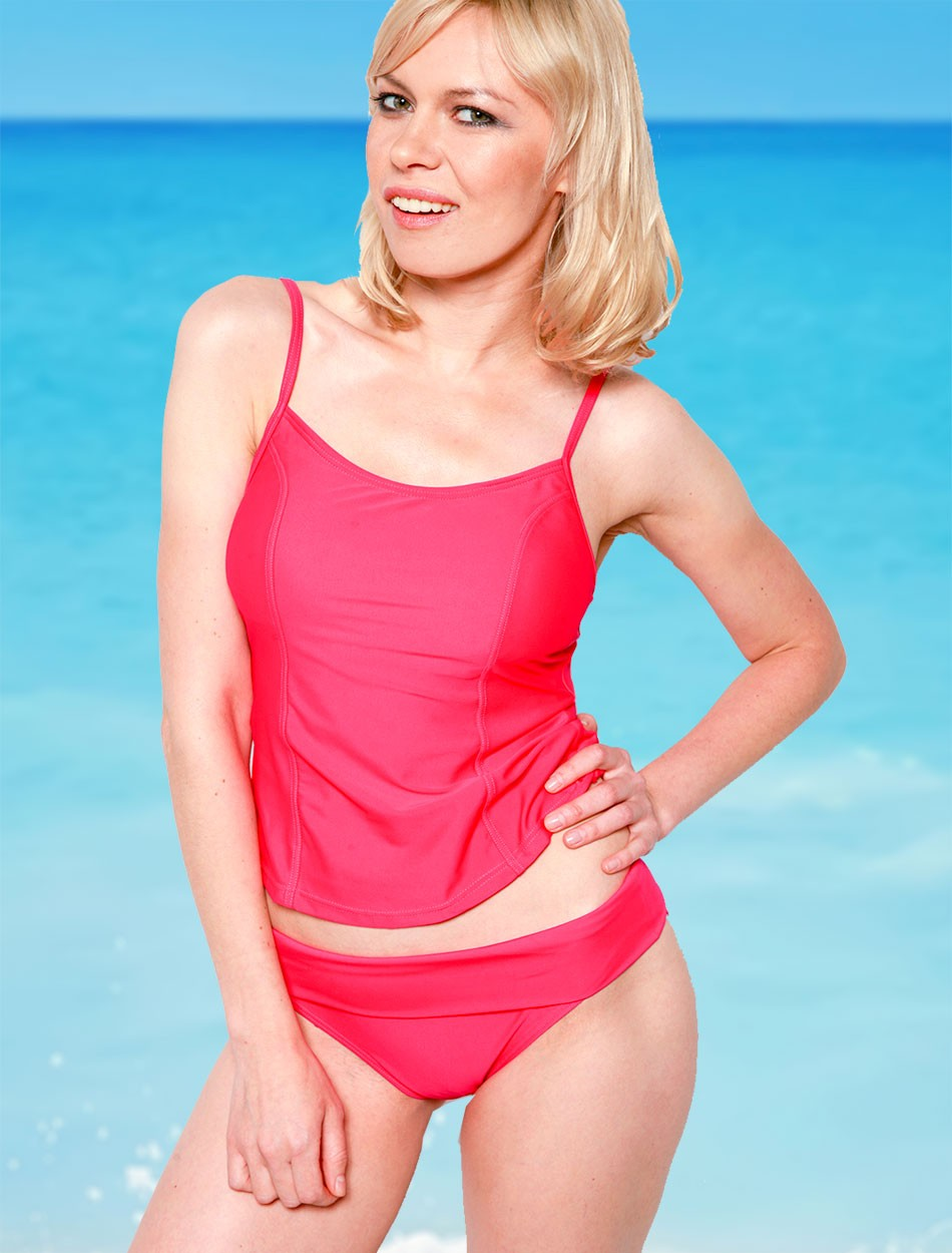 The Tankini Top - Fuschia