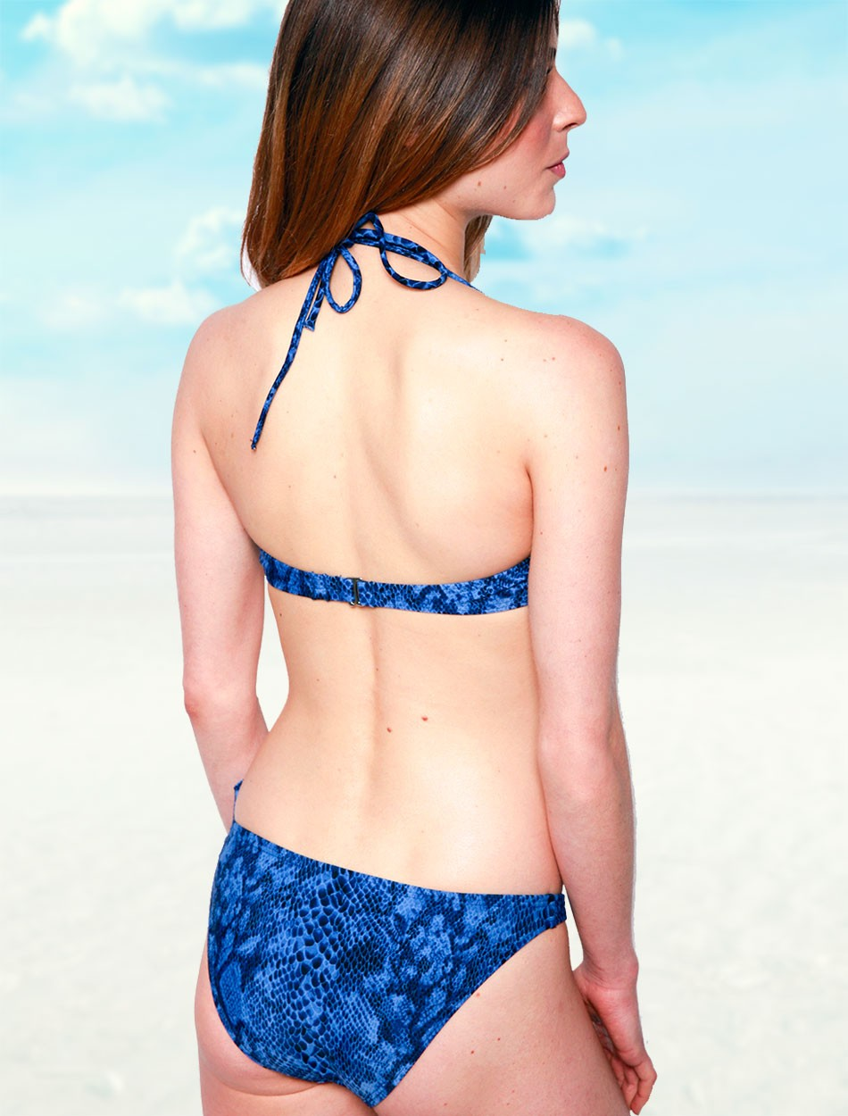The Under Wire Bandeau Top - Blue Snake