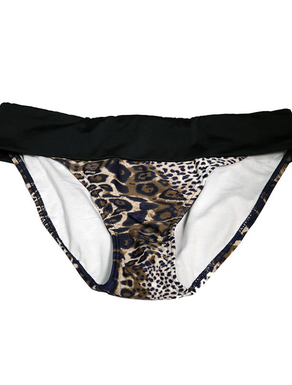 The Fold Over Bottom - Brown Leopard