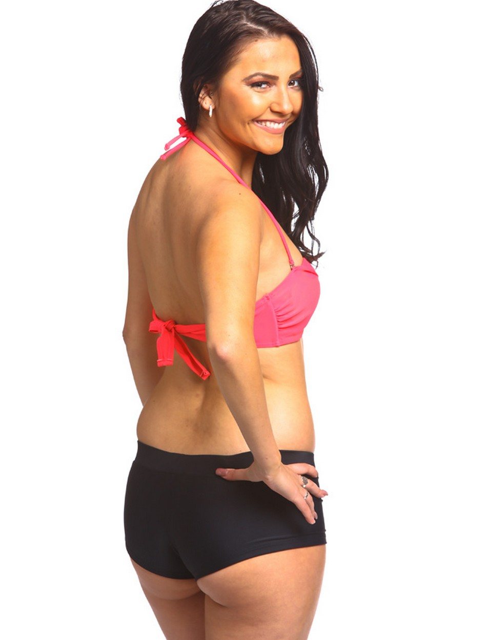 The Twist Bandeau Top - Red Coral