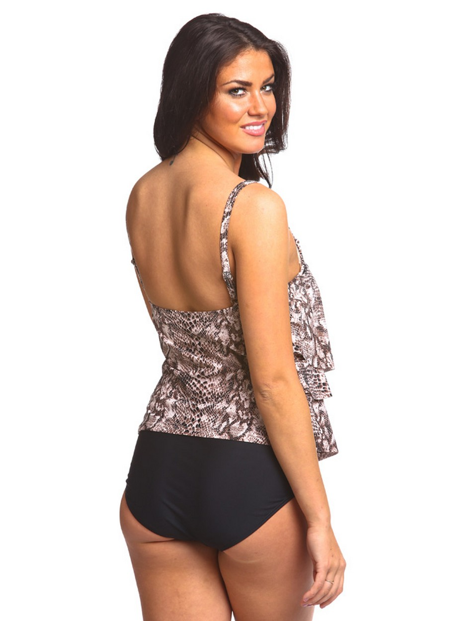 The Three Tiered One Piece - Brown Snake