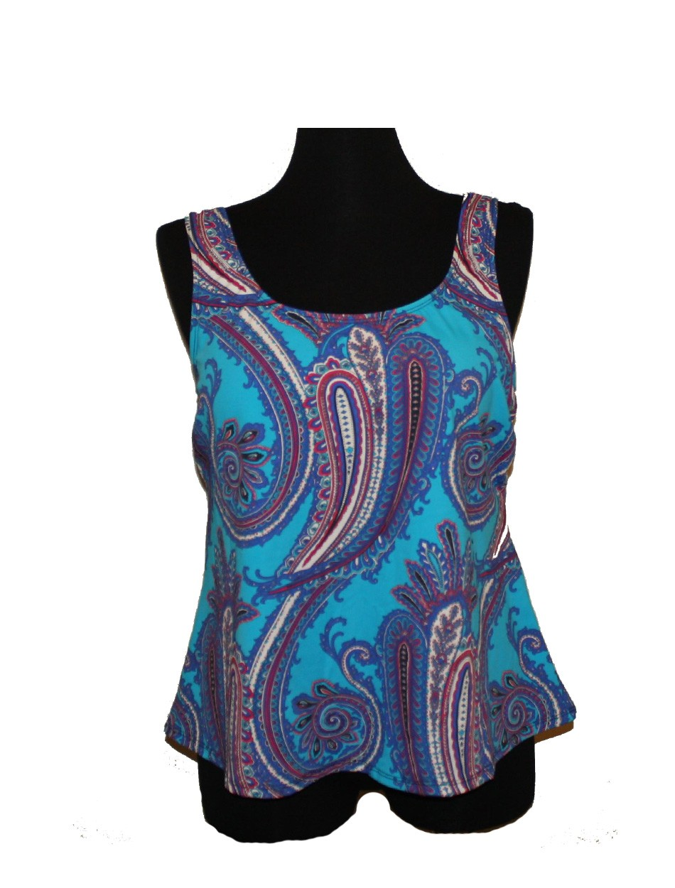 The Teal Paisley Tankini