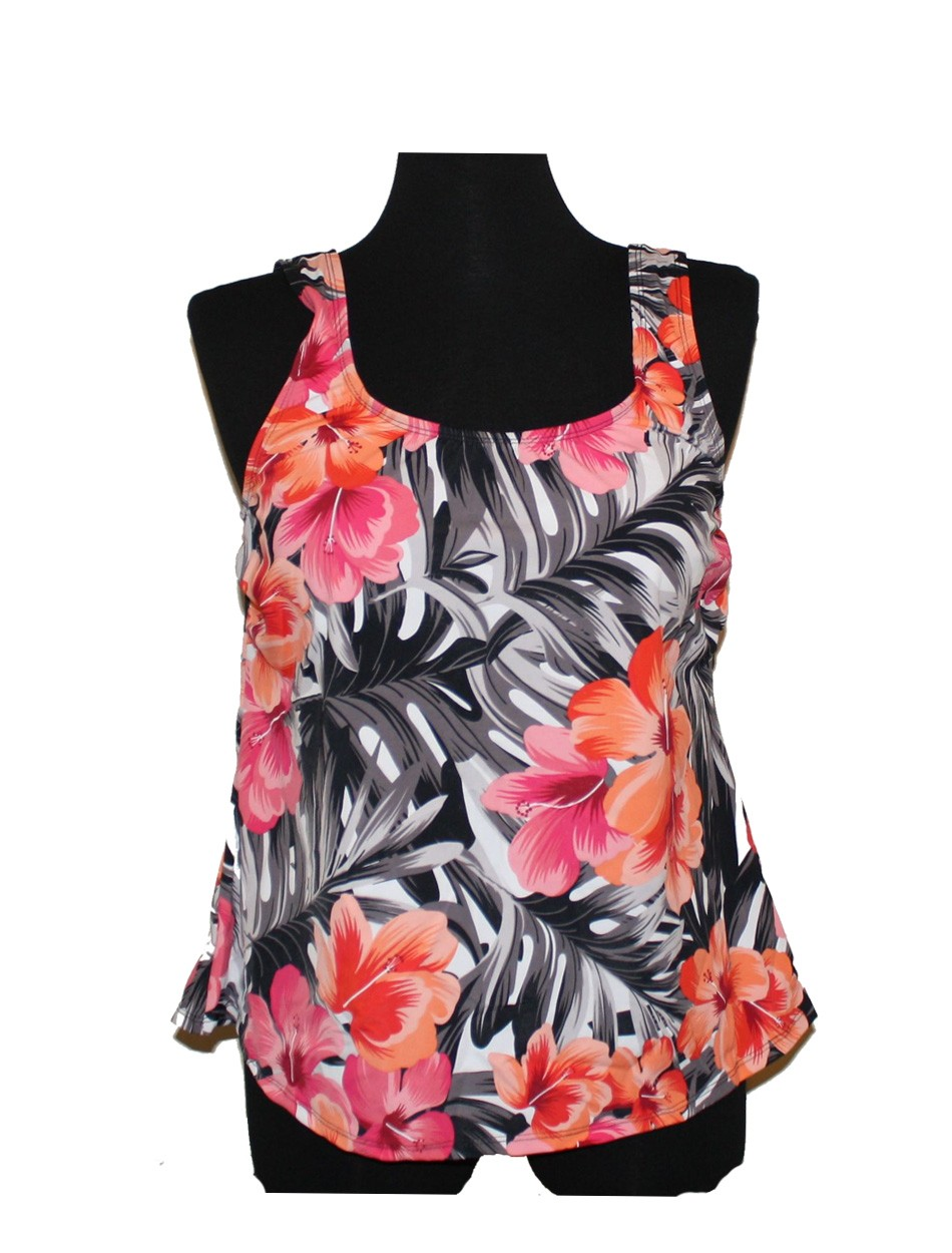 The Peach Floral Tankini