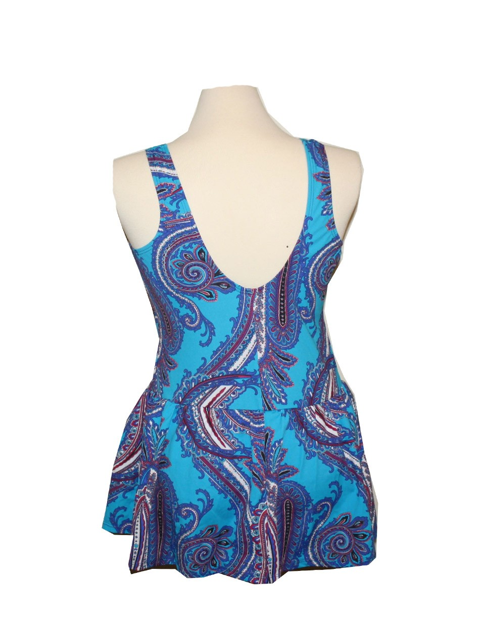 The Teal Paisley Swim Dress