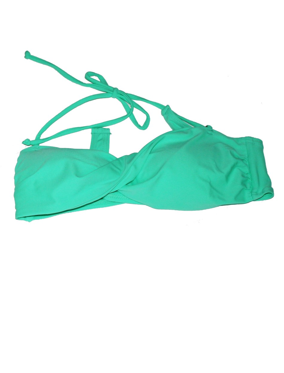 The Twist Bandeau Top - Mint Green