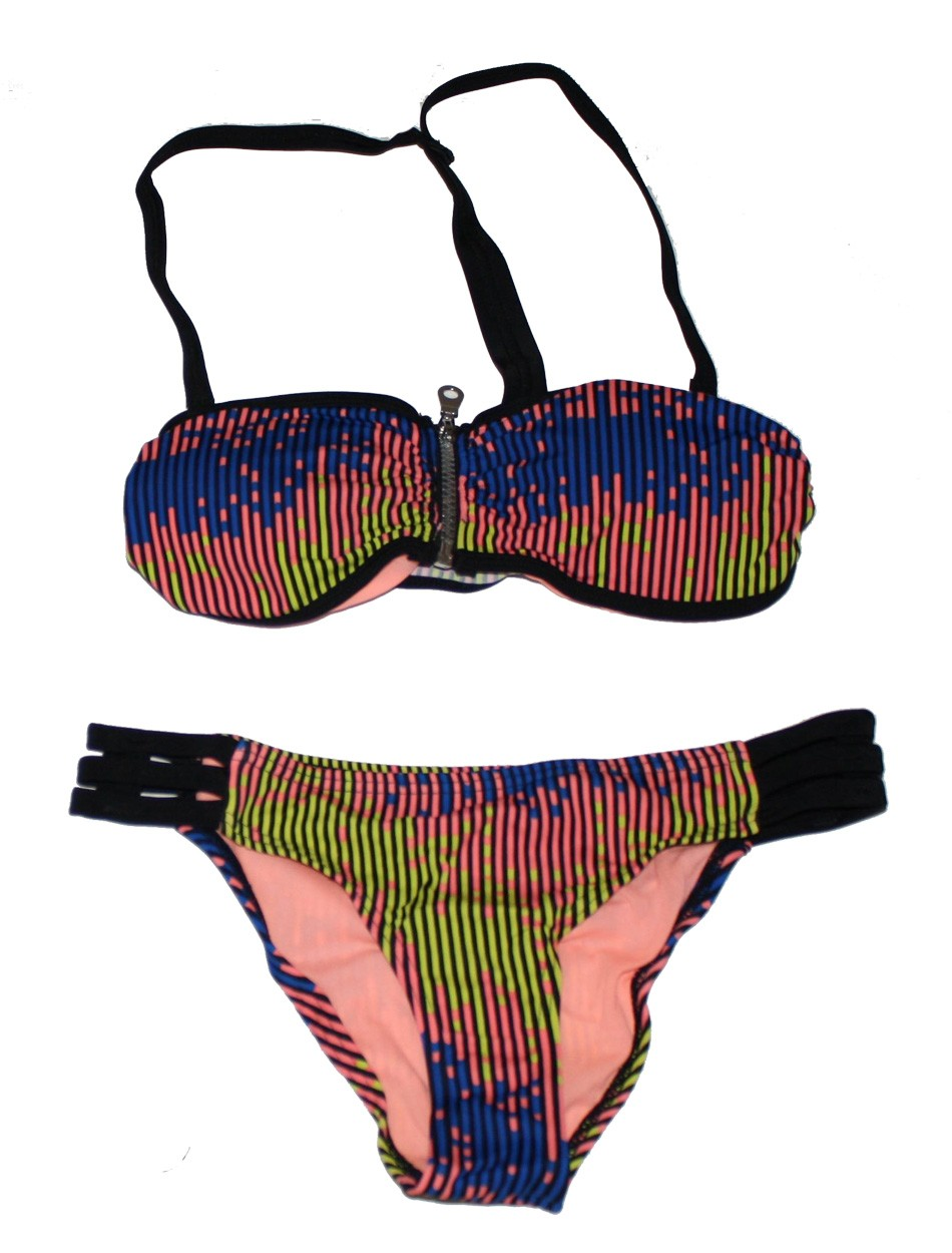 The Zipper Bandeau Bikini Set - Soft Tribe Viking